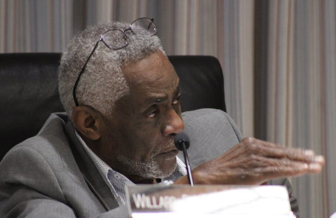 Rapides Parish School Board member Bubba McCall talks about proposals that were presented to deal with mold at Arthur F. Smith Middle Magnet School.