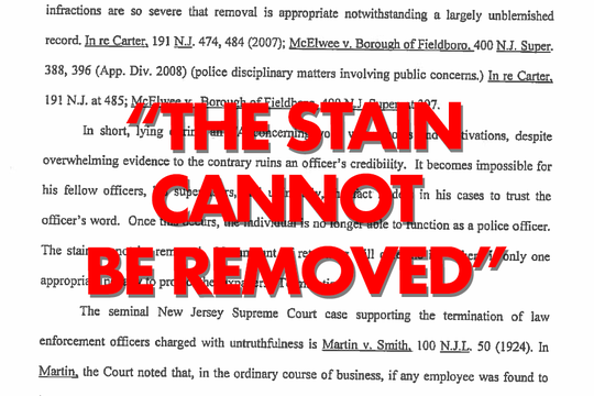 """An Eastampton hearing officer determined Musser was dishonest and he should be fired. """"The stain cannot be removed. No amount of retraining will cure the ill. There is only one appropriate penalty to protect the taxpayers. Termination."""""""