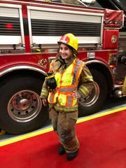 Ciara DiMaiolo with Robertsville Volunteer Fire Company in Marlboro