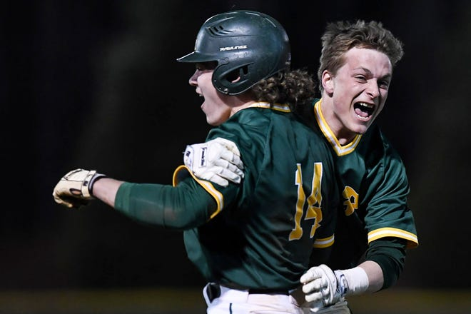 Reynolds defeated Tuscola 4-3 in Asheville March 19, 2019.