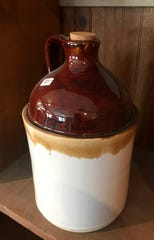 The Browns make a lot of traditional Southern pottery, including classic liquor jugs.