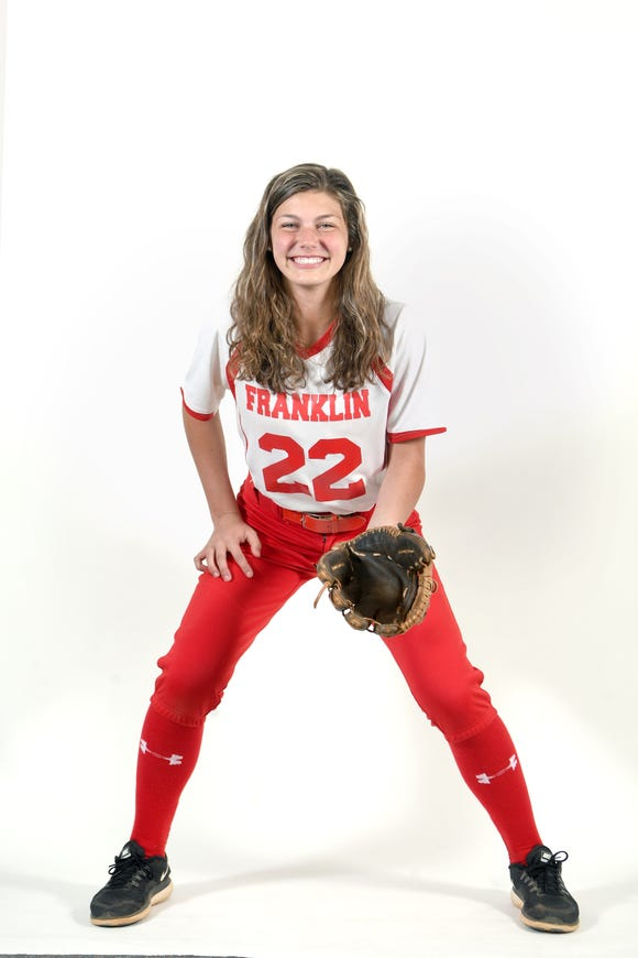 Taylor Ensley is a sophomore on the Franklin softball team.