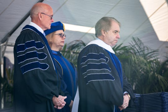Bill Murdock at the 2018 UNC Asheville graduation where he received an honorary degree from the university. He has since returned that degree.