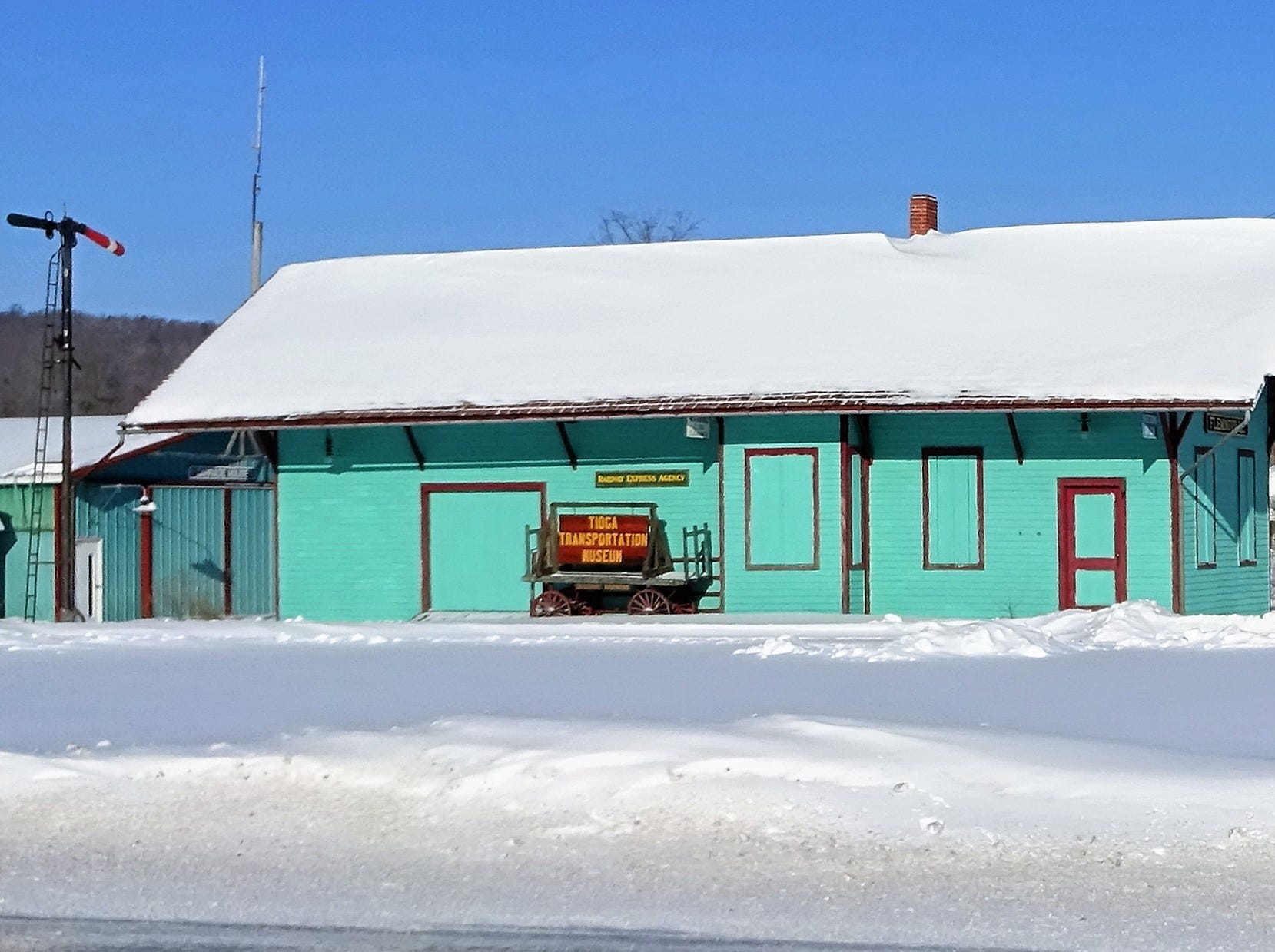 A building in Flemingville, NY.
