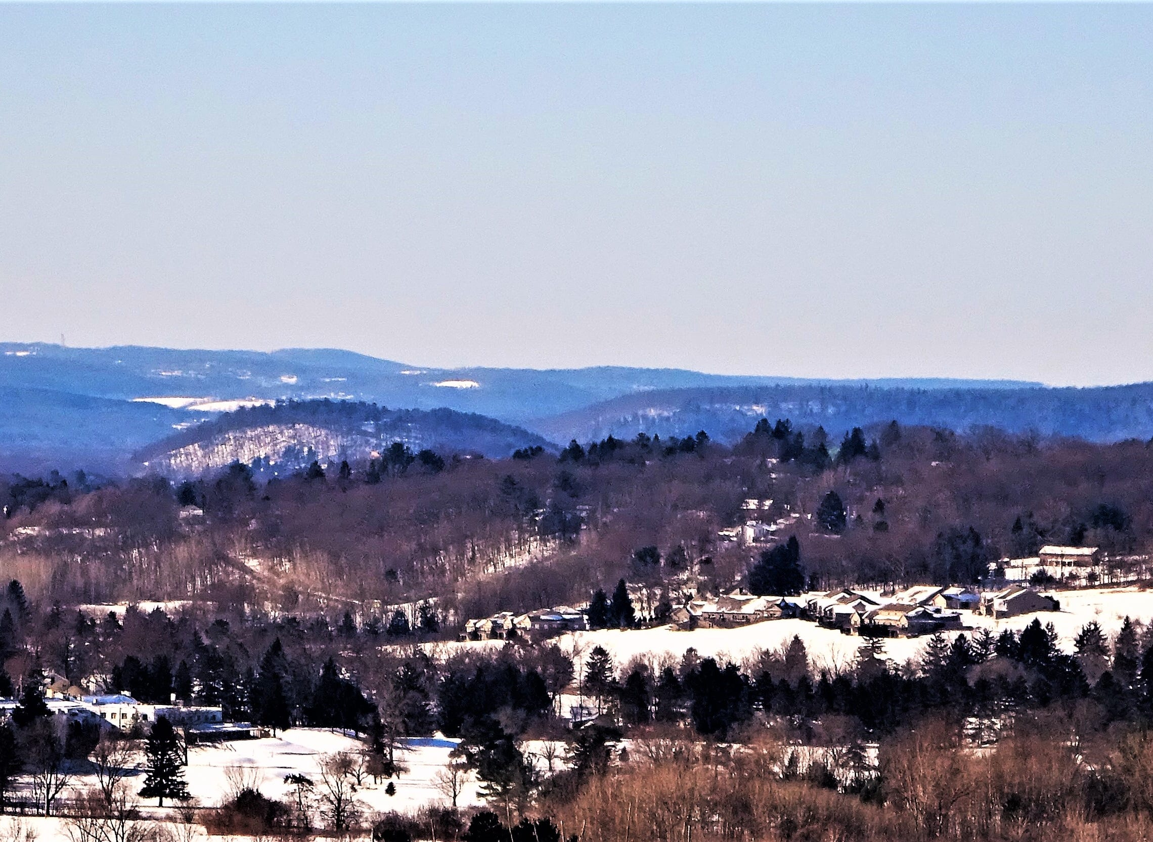 A view from Johnson City toward Endicott.