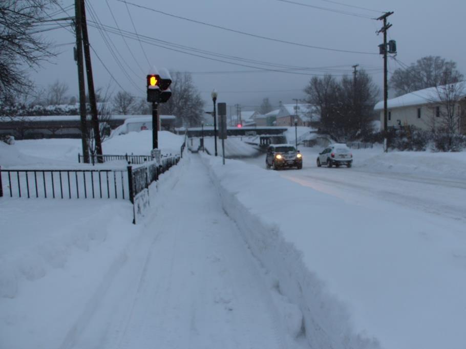 A snowy scene in Endicott.