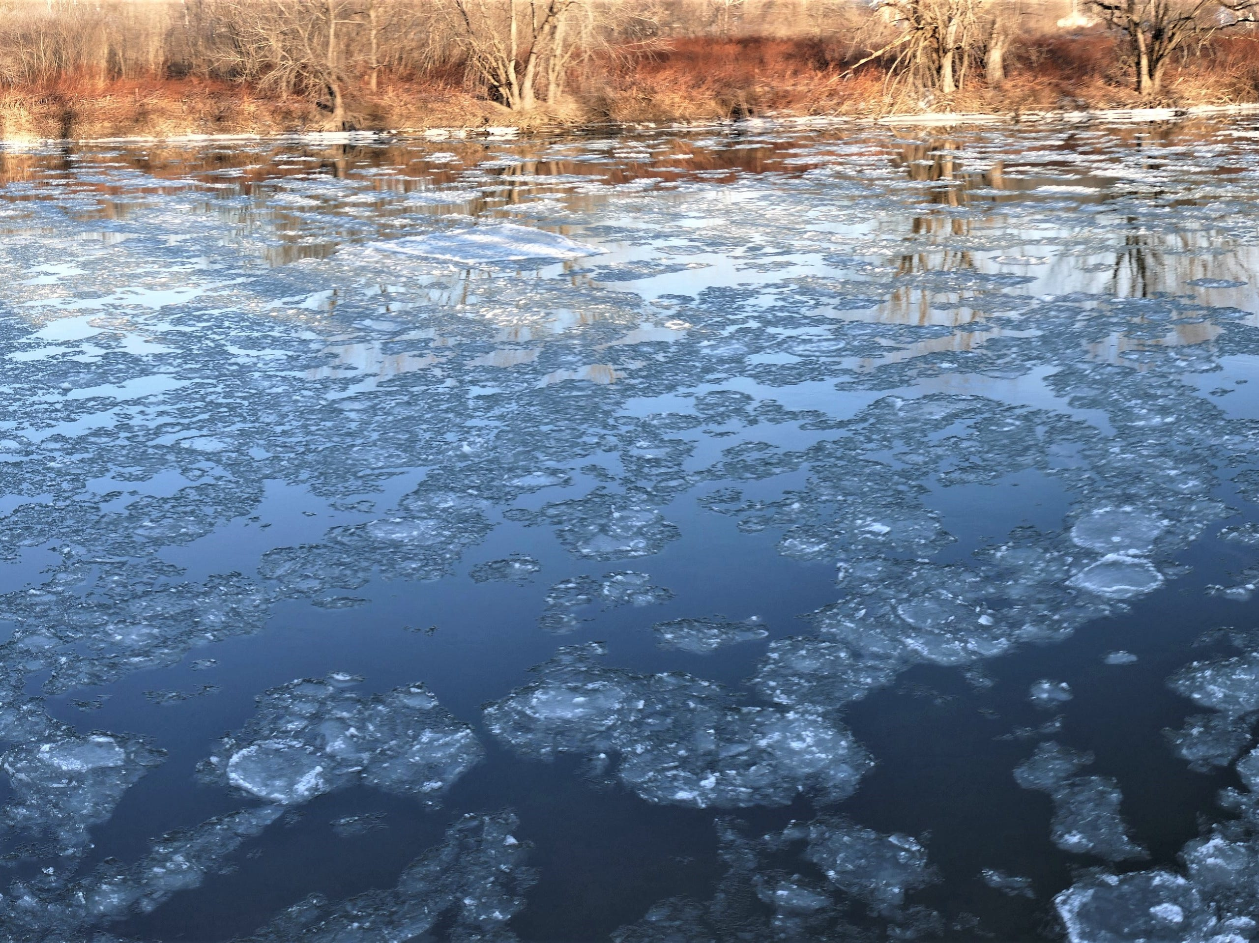 An icy view in Conklin.