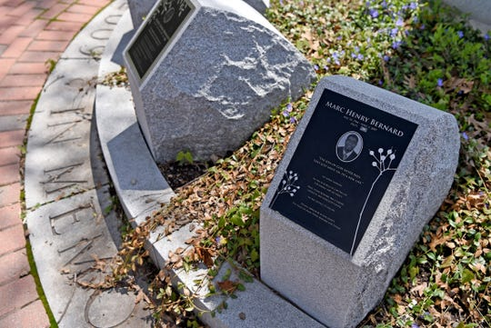 """Marc Henry Bernard, Haiti.""""The Son of God never dies, they just move on to a new life.""""Victims of the 2009 American Civic Association shooting are remembered at the memorial, which is located on Front and Clinton Streets in Binghamton."""