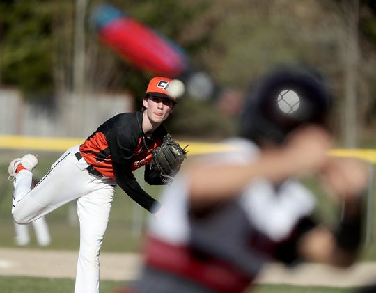 Central Kitsap's Chandler Lindstrom pitched a no-hitter against Yelm on March 19. The Cougars, who won four of their first five games, are set to play on a new turf field on Central Kitsap's campus April 10 against Peninsula.