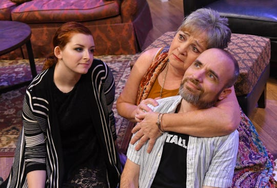 """Lily Porter as Susie, Susan Suomi as Anna, and Kevin McCaughin as Elliot. """"The Country House"""" will be performed at Melbourne Civic Theatre March 22-April 28."""