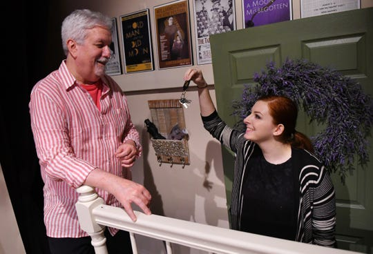 """Terrence Girard as Walter and Lily Porter as Susie. """"The Country House"""" will be performed at Melbourne Civic Theatre March 22-April 28."""
