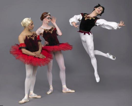 Les Ballets Trockadero de Monte Carlo blends dance and comedy at Ruby Diamond Concert Hall on Saturday.