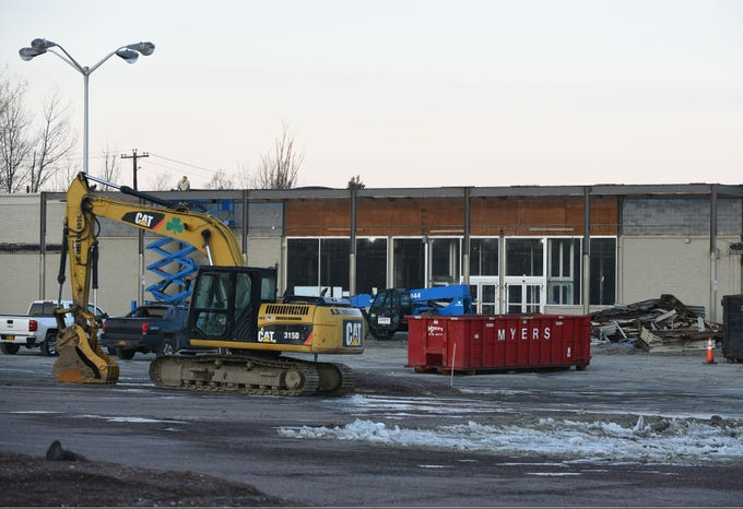 The shopping center that used to house the Kmart in South Burlington shows signs of work  on the morning of Wednesday, March 20, 2019. Work has begun at the empty shopping center to make way for a new Hannaford supermarket.