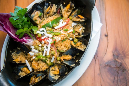 Seafood paella will be on the SJ Hot Chefs Spring Restaurant Week menu at Terra Nova in Sewell. Paella includes rock shrimp, bay scallops, mussels & calamari, bell peppers, peas, red onion, saffron broth and short grain rice.
