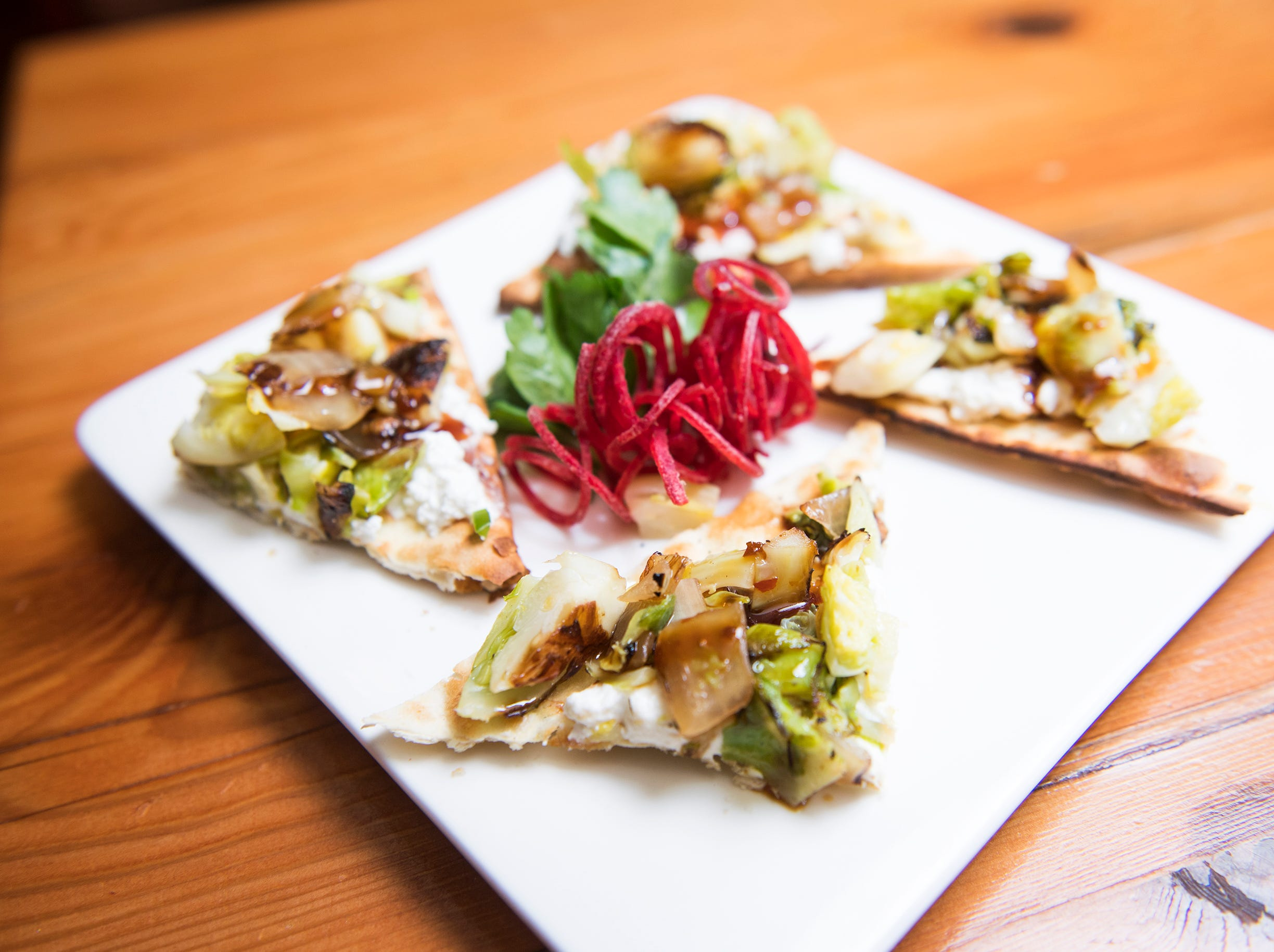 Roasted Brussels sprouts and ricotta flatbread is part of the SJ Hot Chefs Restaurant Week menu at Terra Nova in Sewell.