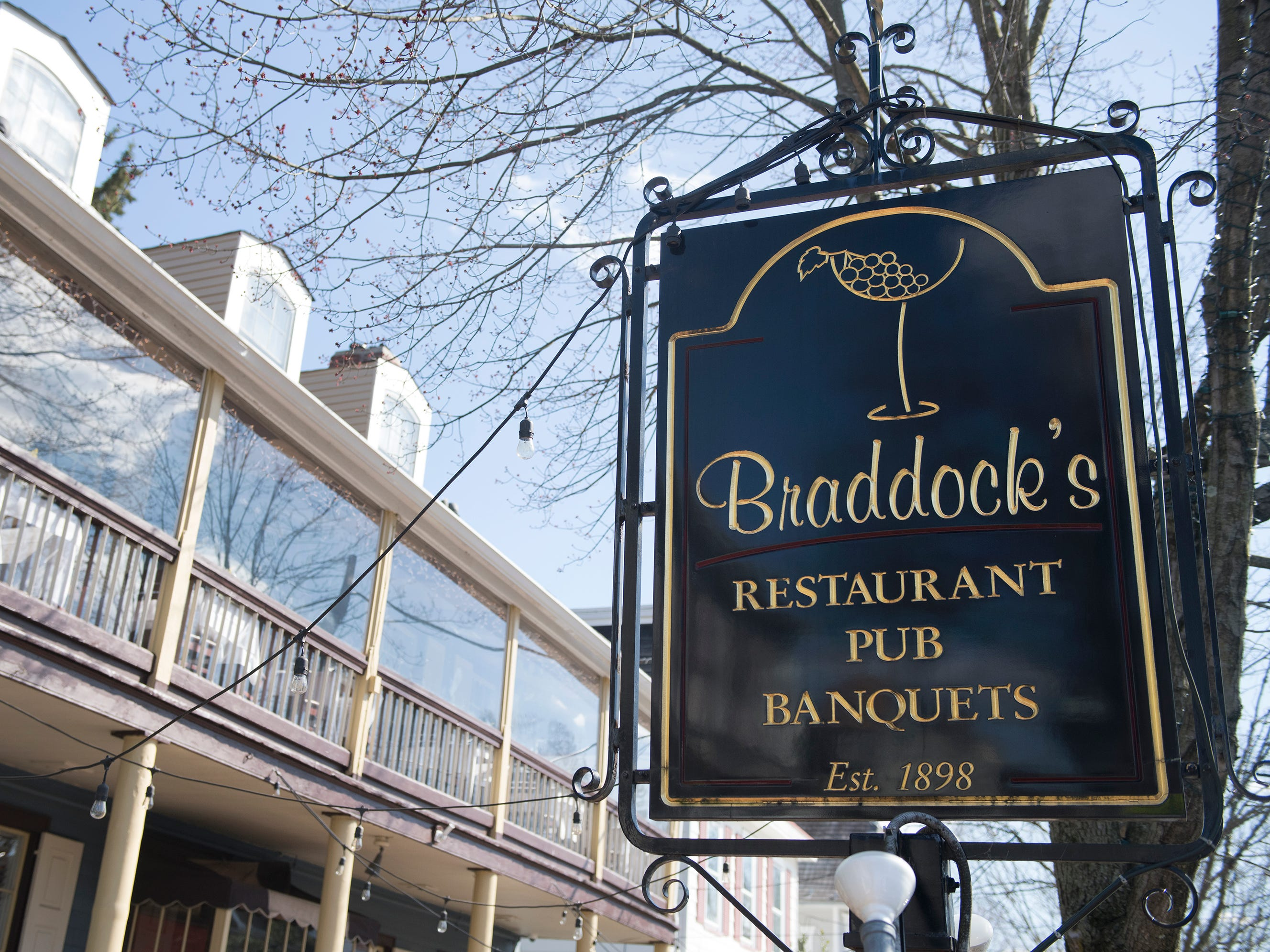 Exterior of Braddock's in Medford.