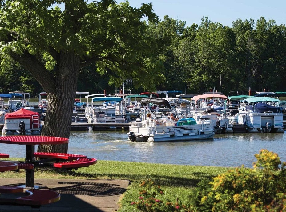 The marina in Hueston Woods State Park.