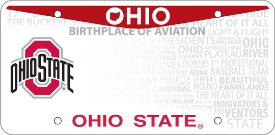 Ohio State University leads the state in specialty license plates