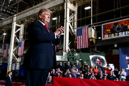 President Donald Trump talked about the Lordstown GM plant, windmills, John McCain and more during a speech at the Lima Army Tank Plant in Northwest Ohio on Wednesday.