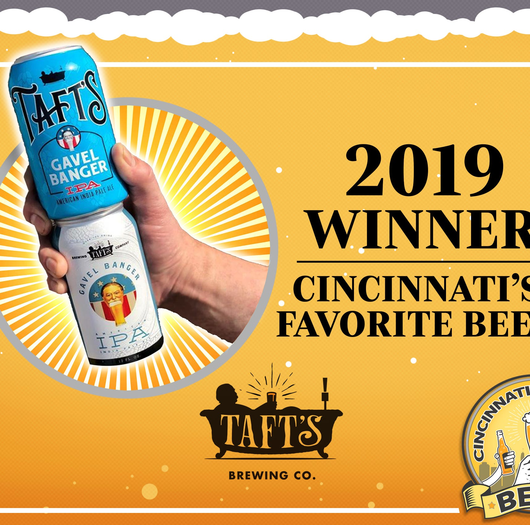 IPA from Taft's wins Cincinnati's Favorite Beer 2019