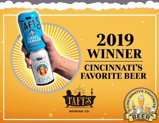Taft's Gavel Banger, Cincinnati's Favorite Beer 2019.