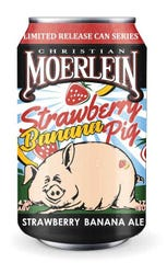 Christian Moerlein Brewing Co. will launch Strawberry Banana Pig in a 6-pack of 12 oz. cans this March.