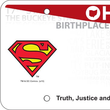 Thousands of Ohioans have a Superman license plate.