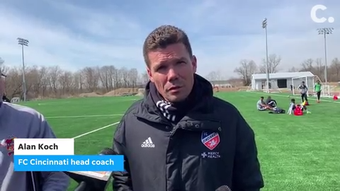 FC Cincinnati head coach Alan Koch discusses some of the challenges his club is likely to face in the March 24 match against the New England Revolution.