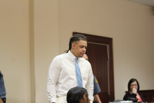 Javian Hawkins during the final day of trial March 20, 2019, in the shooting, beating and stabbing death of Julie Rosario.