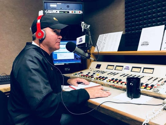 "Gantry ""Wolfgang"" Miller shown in an undated photo during his show, ""The Drive,"" which airs on 1700 AM ""The Champ."" The 44-year-old was killed on Interstate Highway 80 on Tuesday, March 19, 2019."