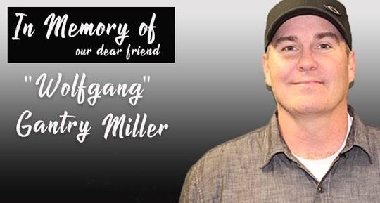 "A picture of Gantry ""Wolfgang"" Miller, a sports radio host at 1700 AM ""The Champ,"" who was killed Tuesday."