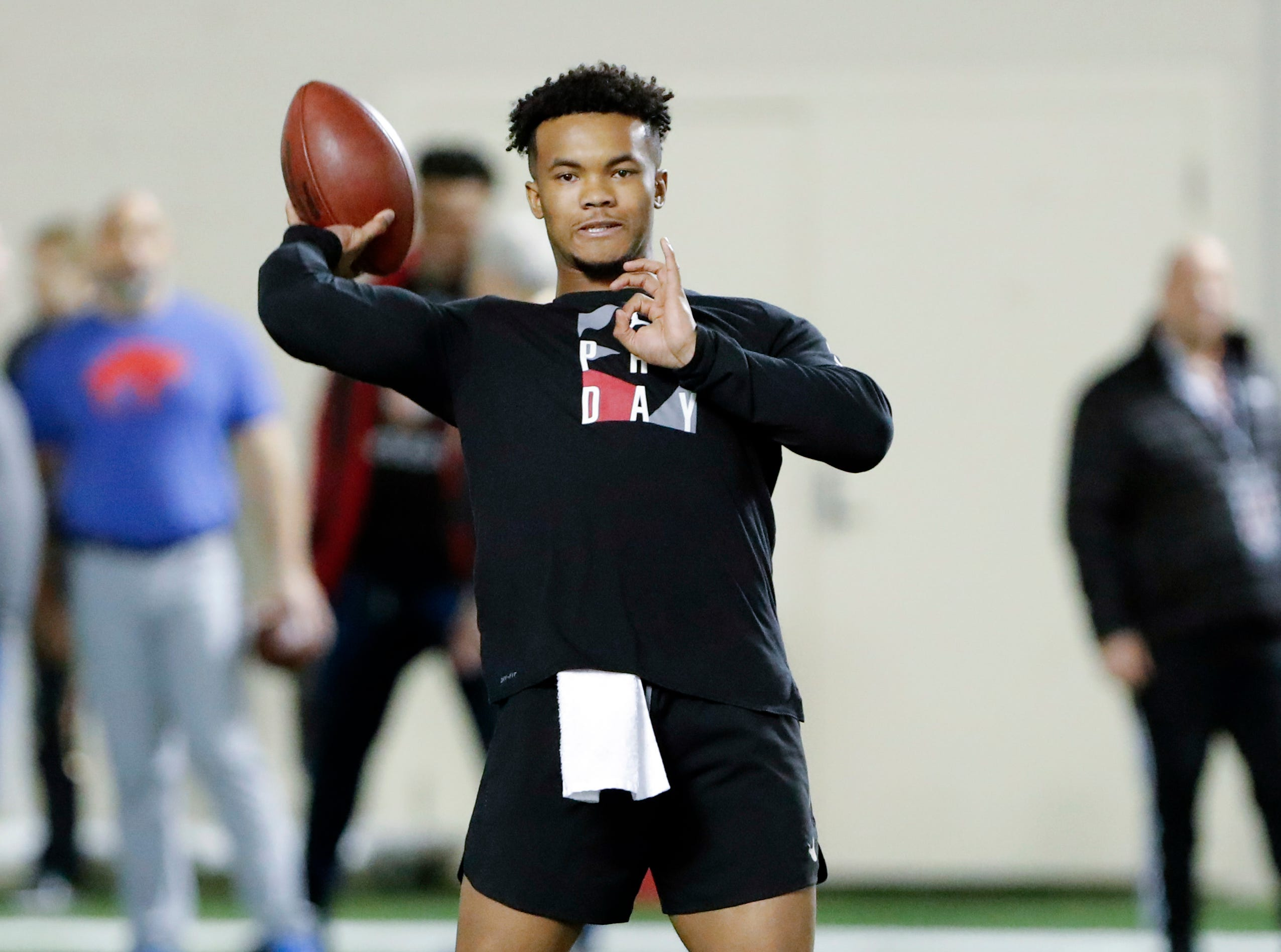 1. Arizona Cardinals: QB Kyler Murray, Oklahoma – A change up top as rumors continue to run rampant that the Cardinals will take Murray and deal last year's first-round pick, Josh Rosen.