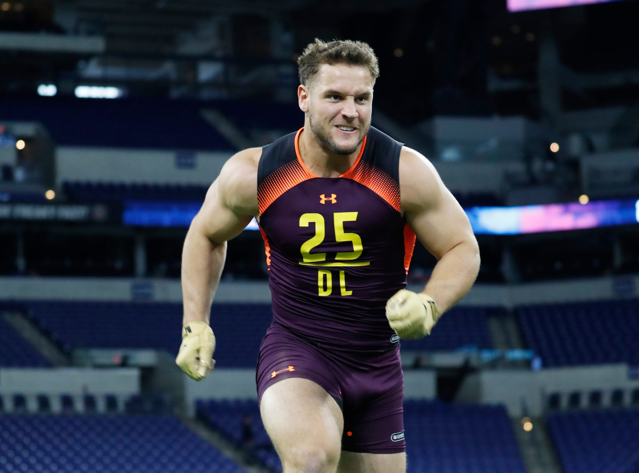 2. San Francisco 49ers: DE Nick Bosa, Ohio State – The 49ers traded for Dee Ford, but he's essentially on a one-year deal. Bosa is too good to pass up at No. 2.