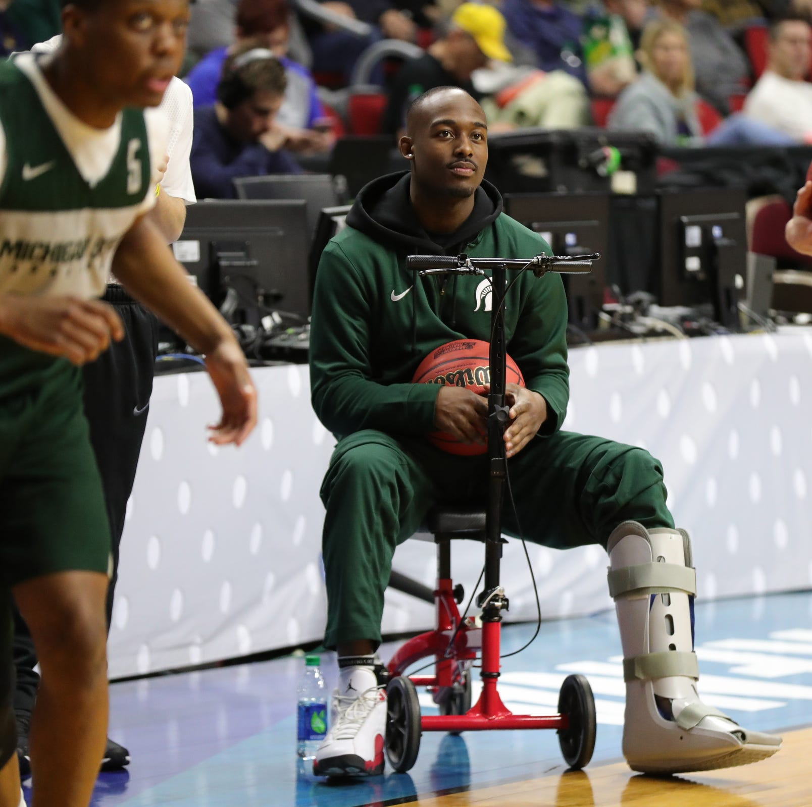 "MSU's Joshua Langford not feeling sorry for himself:  ""I am still a captain of the team."""