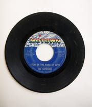 "The Supremes' ""Stop! In the Name of Love"" on 45."