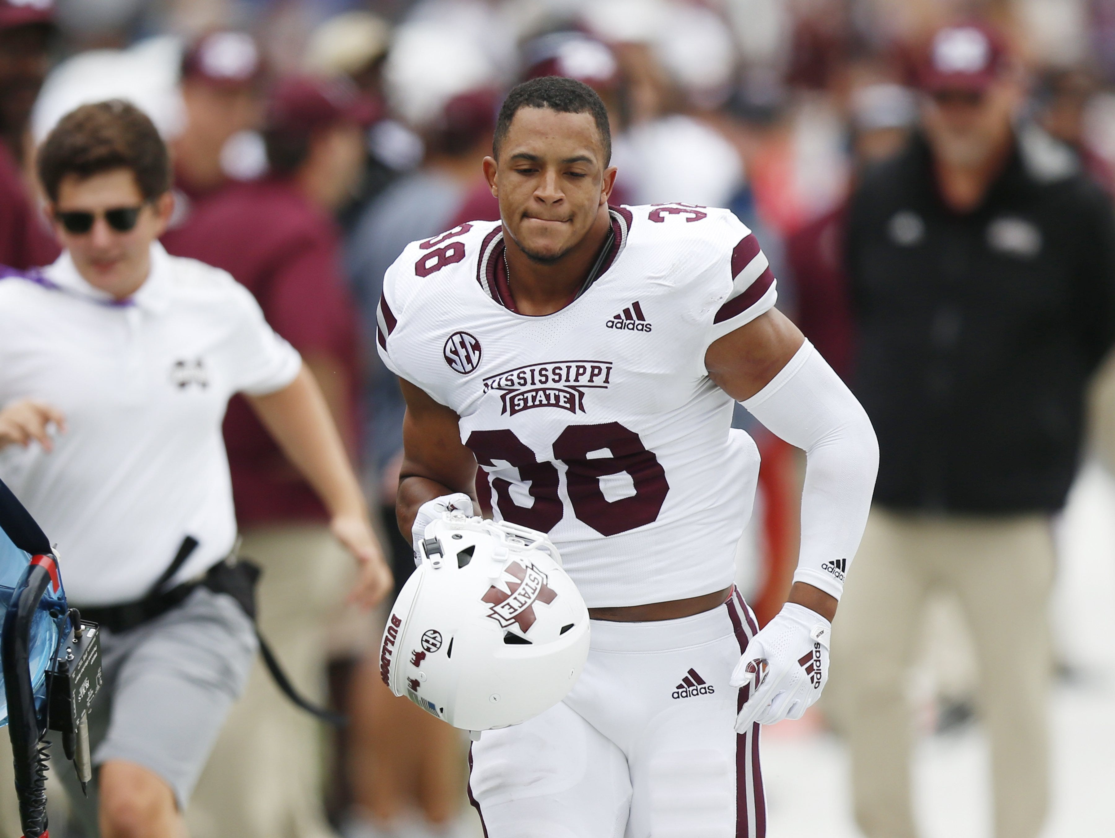 32. New England Patriots: S Johnathan Abram, Mississippi State – Abram seems to have passed Deionte Thompson as the No. 1 safety in the draft.