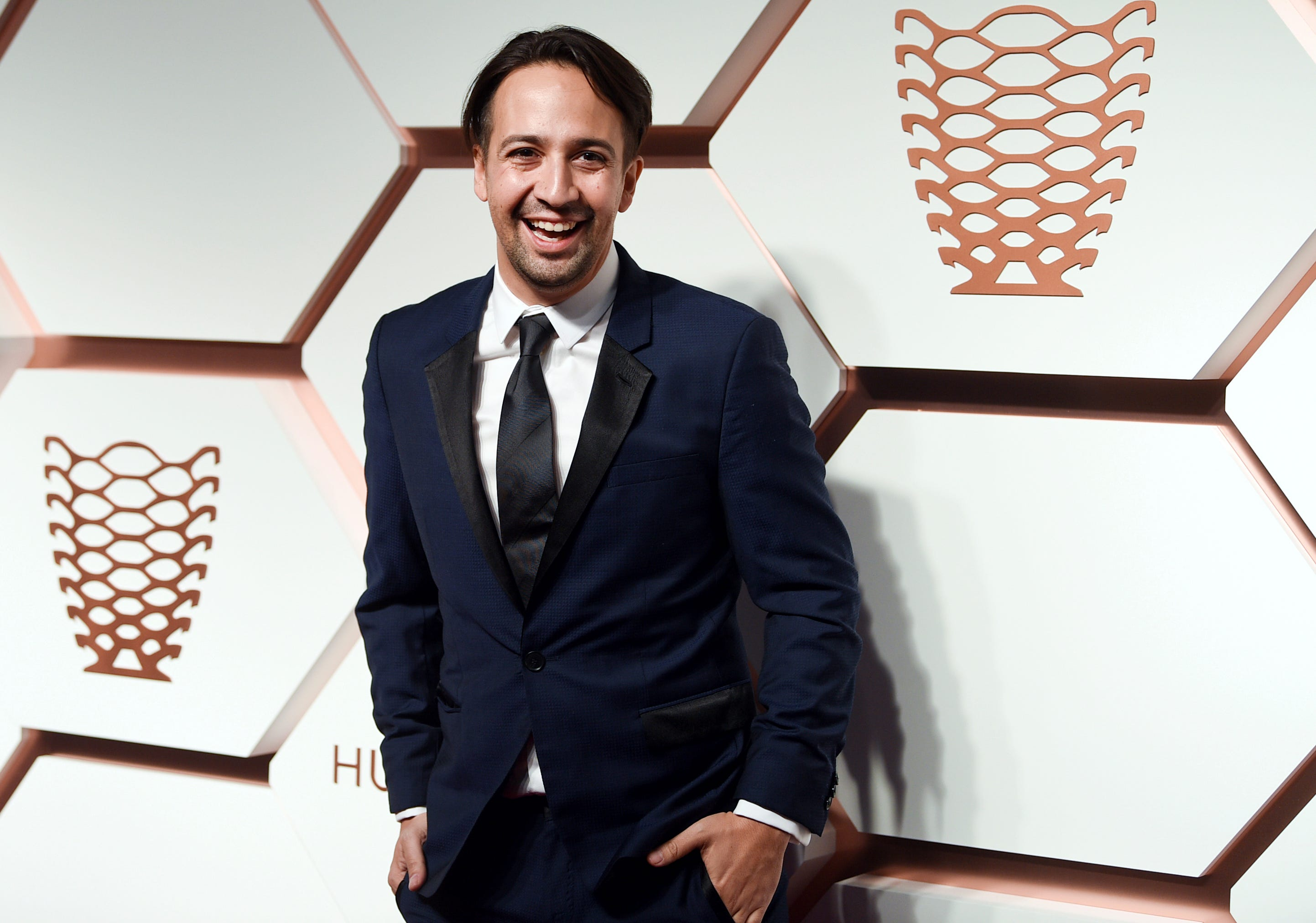 """Actor Lin-Manuel Miranda in New York on  Thursday, March 14, 2019. On Tuesday, he surprised the Detroit audience of his musical """"Hamilton"""" with a personal appearance."""