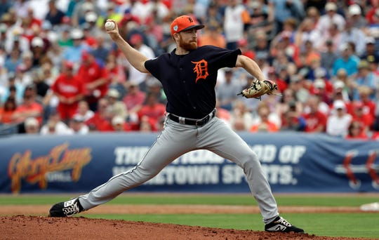 Detroit Tigers starting pitcher Spencer Turnbull delivers to the Philadelphia Phillies during the first inning.
