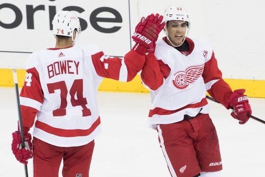 No Tanks Athanasiou Scores Twice Red Wings Hold On To Beat Rangers