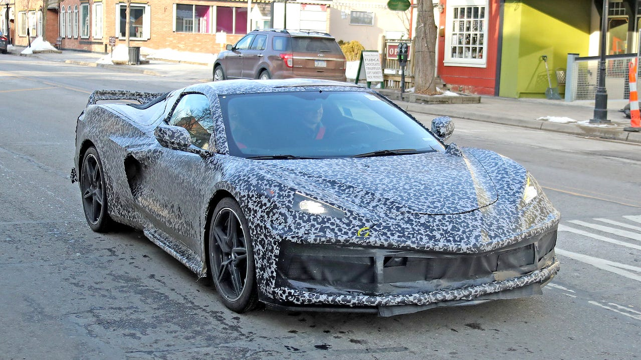 Elusive Chevy Corvette C8 starts to come into the open