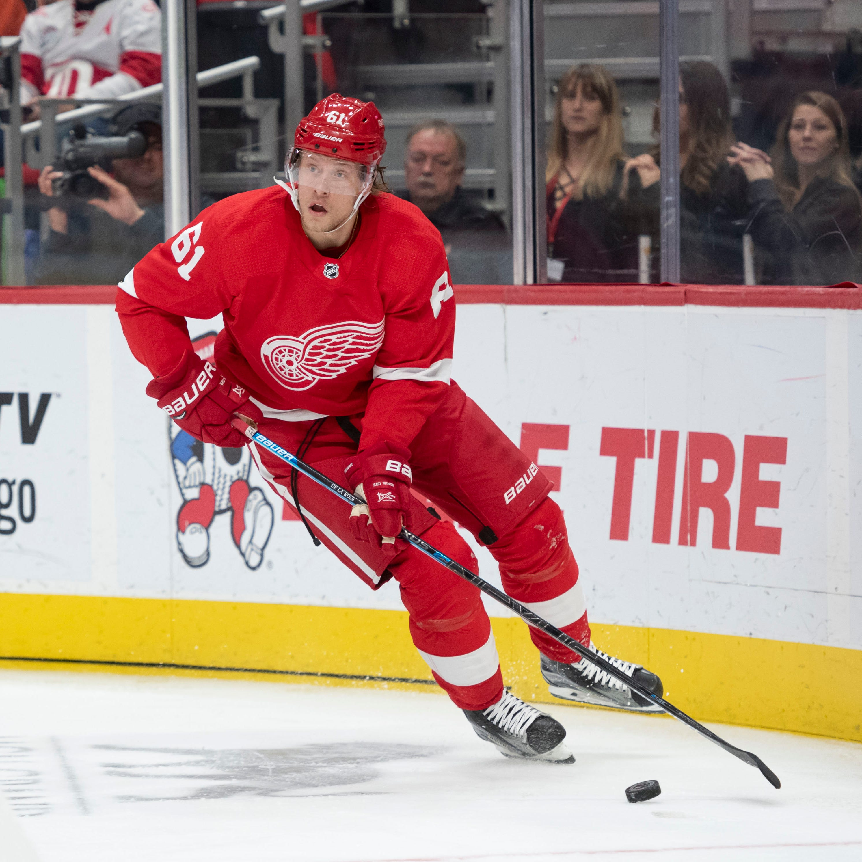Red Wings cautious with Jacob de la Rose after heart scare