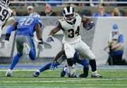 Malcolm Brown is coming off his best season, averaging 4.9 yards a carry while backing up Todd Gurley.