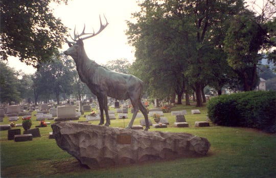 The Elks Memorial Marker identifies the plot known as Elks Rest.