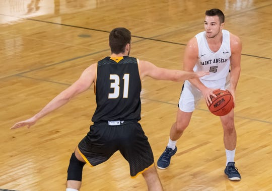 Saint Anselm guard Tim Guers averages 21.5 points to lead the Hawks. The senior was a Division II Bulletin Preseason All-America pick.