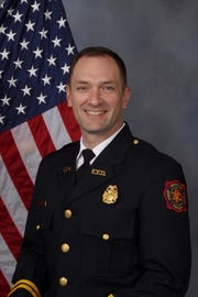 Capt. Tony Knight of Evansville Fire Department was named Firefighter of the Year 2018 by Green River Kiwanis.