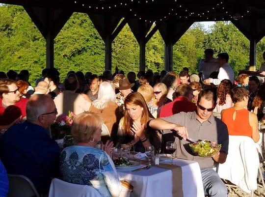 Twilight dinner at Seton Harvest; food by Culinary Innovations.