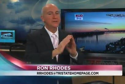 WEHT meteorologist Ron Rhodes