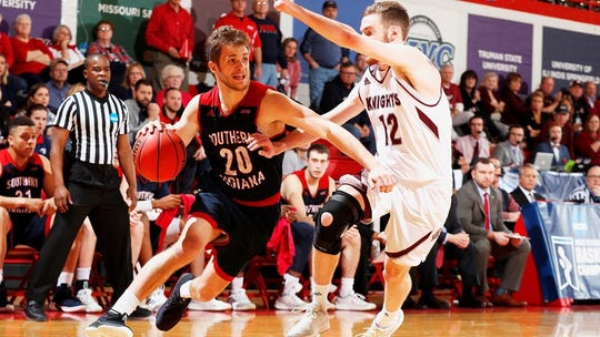 Alex Stein scored 33 points to lead USI to victory over rival Bellarmine.