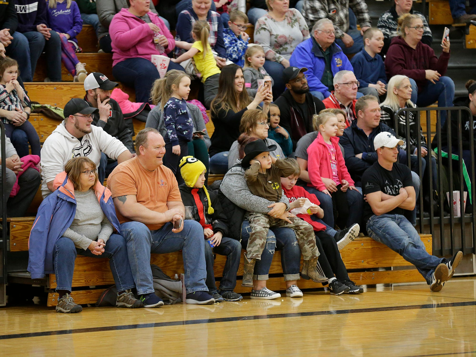 Waupun FFA hosted a night of Donkey Basketball Tuesday, March 19, 2019 in the Waupun High School gym to raise money for Access for Recess. A group wanting to bring all abilities playground equipment to the community. The event, which pegged FFA members against Waupun High School staff,  raised $3000 for the cause. Doug Raflik/USA TODAY NETWORK-Wisconsin