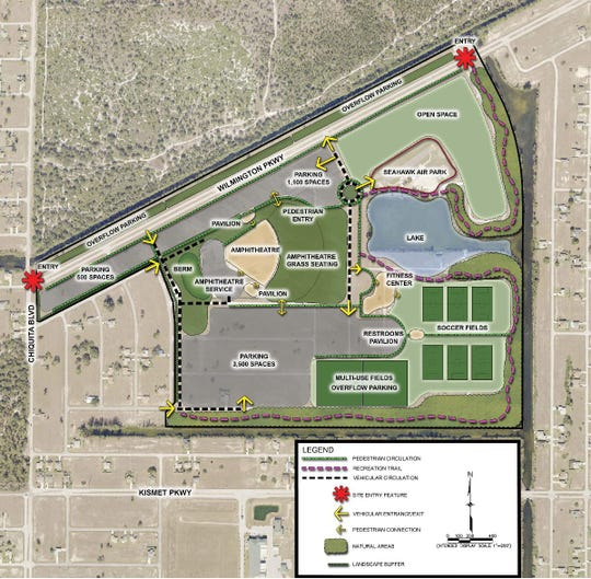 City of Cape Coral concept plans for Festival Park in northwest Cape.